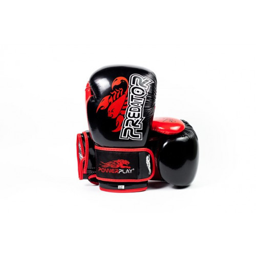 Боксерские перчатки PowerPlay Scorpio - Predator series (3007) Black 10 oz