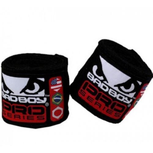 Боксерские бинты Bad Boy Black 2.5 м