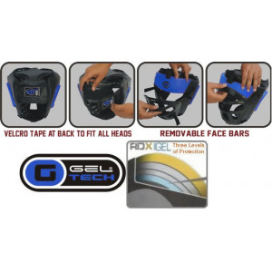 Боксерский шлем тренировочный RDX Guard Blue р. M