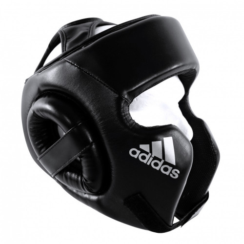 Боксерский шлем Adidas (ADIBHGH01) Headguard BK/WT р. M