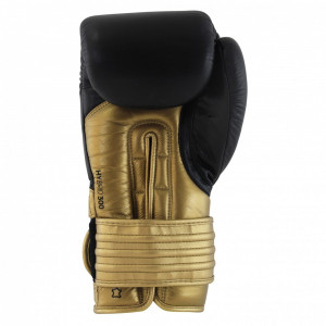 Боксерские перчатки Adidas Hybrid 300 BK/GD 16 oz