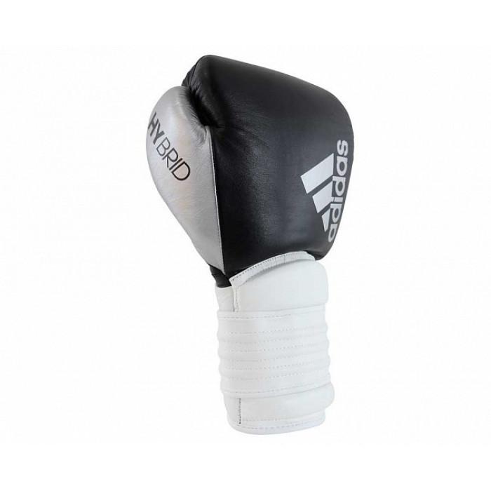 Боксерские перчатки Adidas Hybrid 300 (ADIH300) BK/WT/SL р. 18 oz