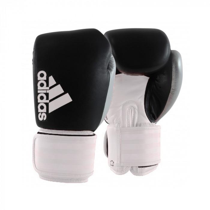 Боксерские перчатки Adidas Hybrid 200 Dynamic BK/WT/SL 10 oz