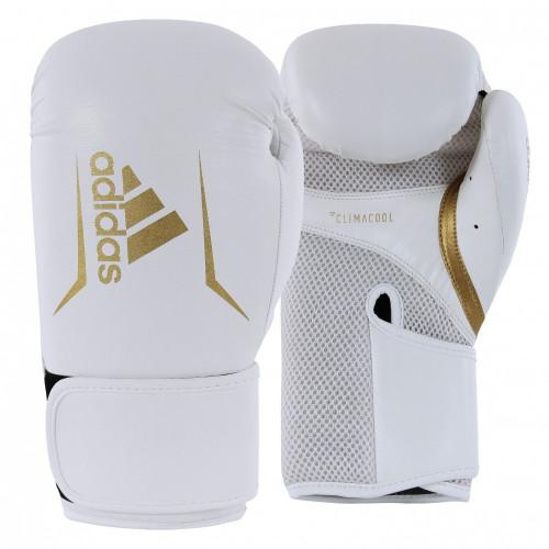 Боксерские перчатки Adidas Speed 100 (ADISBG100) WT/GD р. 10 oz