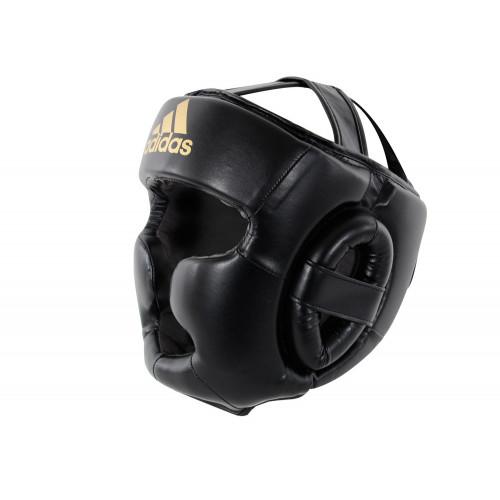 Боксерский шлем Adidas Speed (ADISBHG041) Super Pro Training Extra Protect Black/Gold р. M