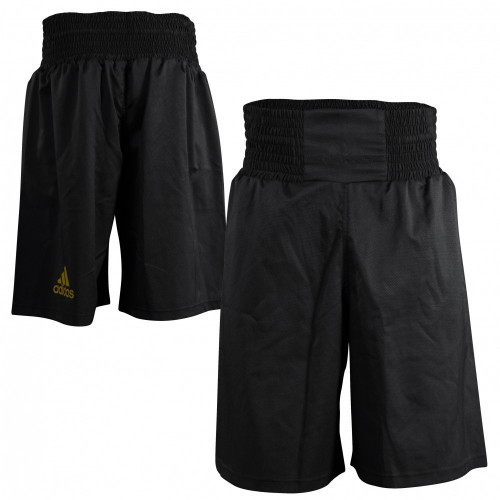 Шорты боксерские Adidas Diamond Flex Satin (ADISMB02) Black/Gold р. M