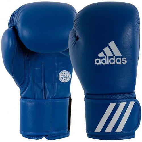 Боксерские перчатки Adidas WAKO Blue 10 oz
