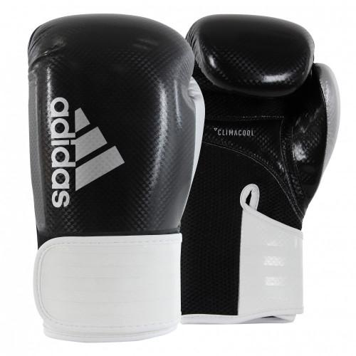 Боксерские перчатки Adidas Hybrid 65 BK/WT/SL 10 oz