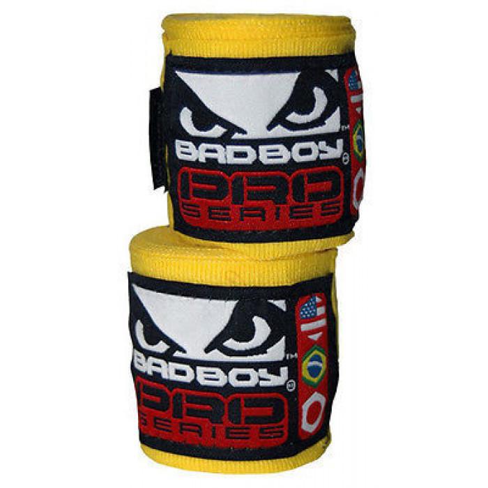 Боксерские бинты Bad Boy Yellow 3.5 м