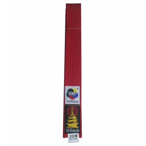 Пояс для кимоно Daedo WKF Red р. 310