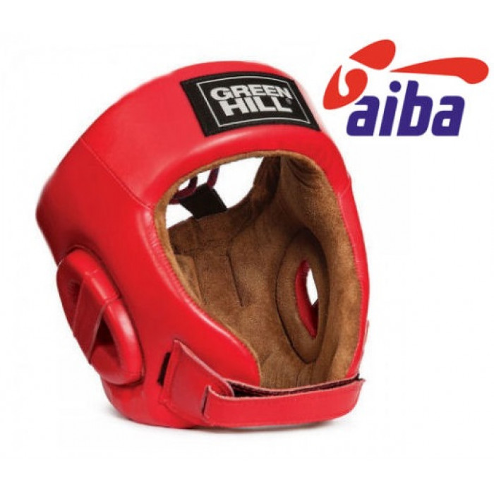 Боксерский шлем Green Hill Five Star AIBA (HGS-4012) Red р. M