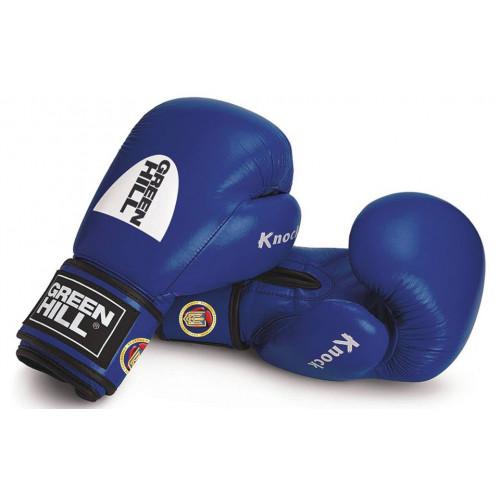 Боксерские перчатки Green Hill Knock ФБУ (KBK-2105) Blue 10 oz