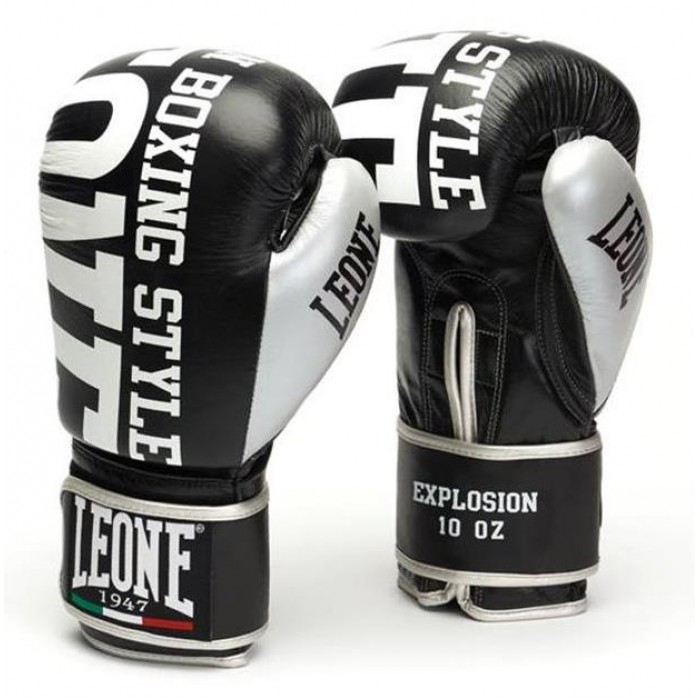 Боксерские перчатки Leone Explosion Black 10 oz
