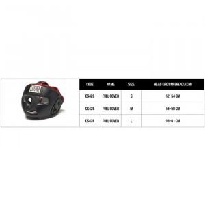 Боксерский шлем Leone Full Cover Black L