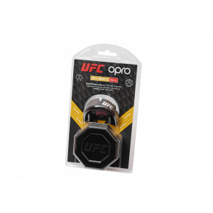 Капа Opro Gold Braces UFC (002262001) Black Metal/Silver