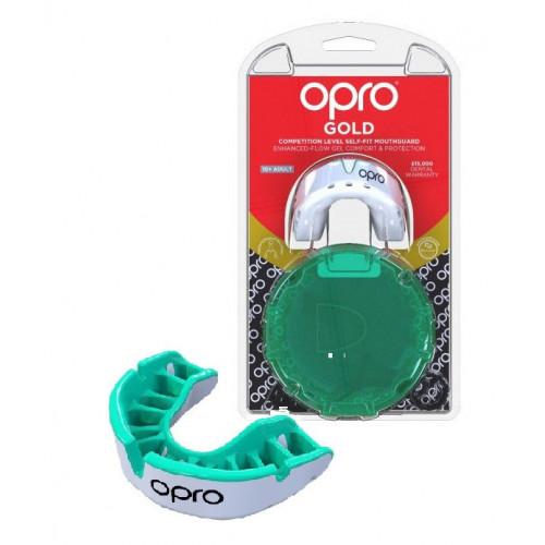 Капа Opro Gold (002226006) White/Mint