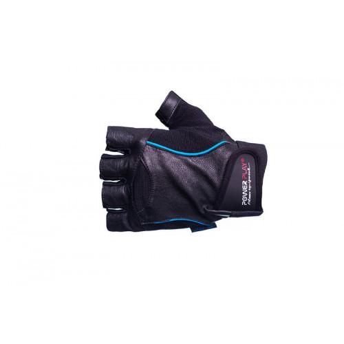 Перчатки для фитнеса PowerPlay (2128) Black/Blue р. L