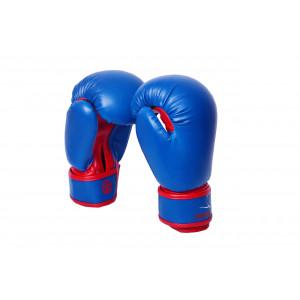Боксерские перчатки PowerPlay (3004) Blue/Red детские 6 oz