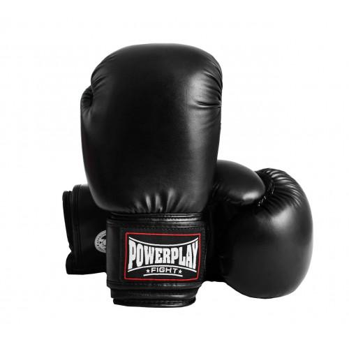 Боксерские перчатки PowerPlay (3004) Black 12 oz