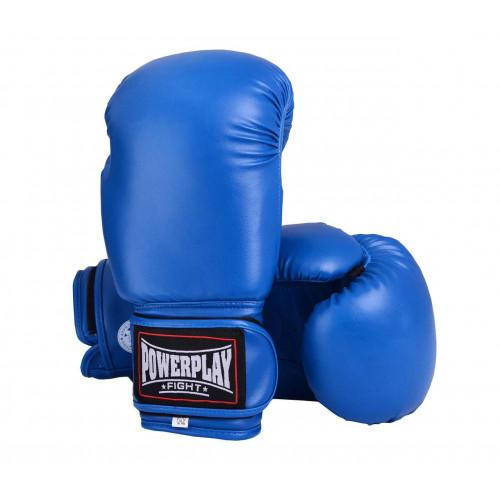 Боксерские перчатки PowerPlay (3004) Blue 16 oz