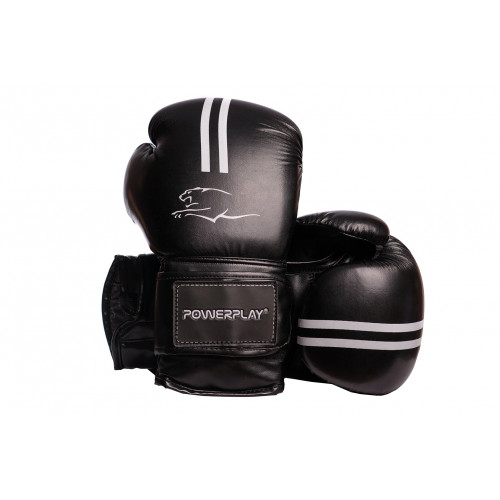 Боксерские перчатки PowerPlay (3016) BK/WT 12 oz