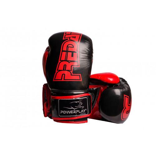 Боксерские перчатки PowerPlay Predator (3017) BK/RD 12 oz