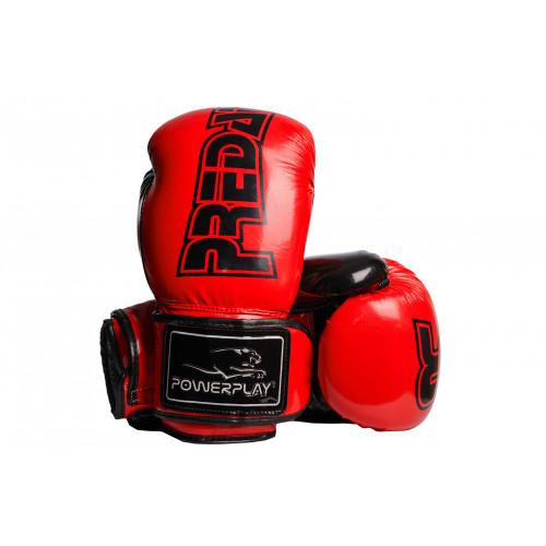 Боксерские перчатки PowerPlay Predator (3017) RD/BK 12 oz