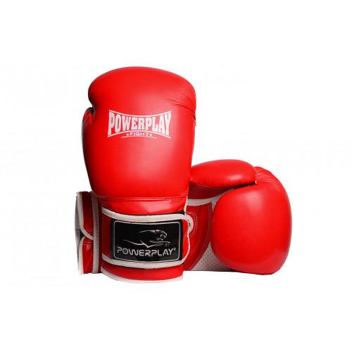 Боксерские перчатки PowerPlay Predator (3019) RD/WT 10 oz