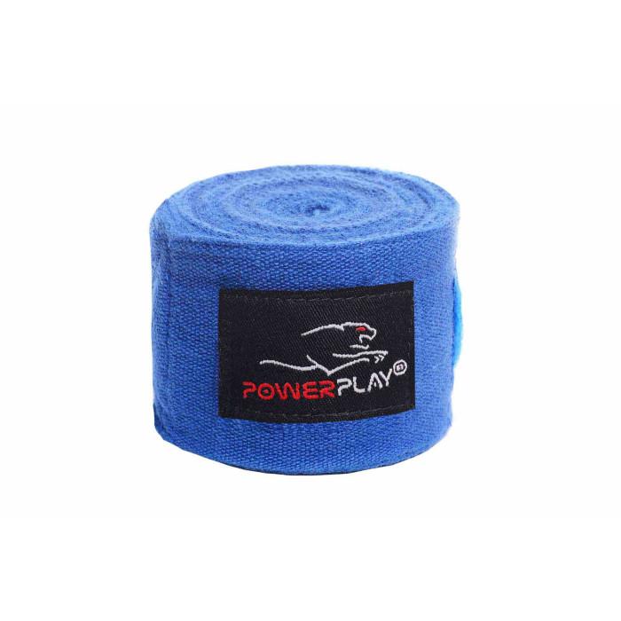 Боксерские бинты PowerPlay (3047) Blue 4 м