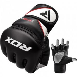 Перчатки для ММА RDX Rex Leather Black р. M
