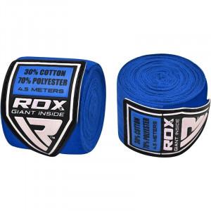 Боксерские бинты RDX Fibra Blue 4.5 м