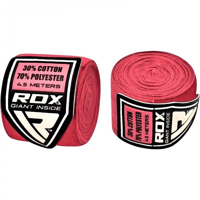 Боксерские бинты RDX Fibra Pink 4.5 м