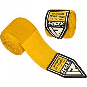 Боксерские бинты RDX Fibra Yellow 4.5 м