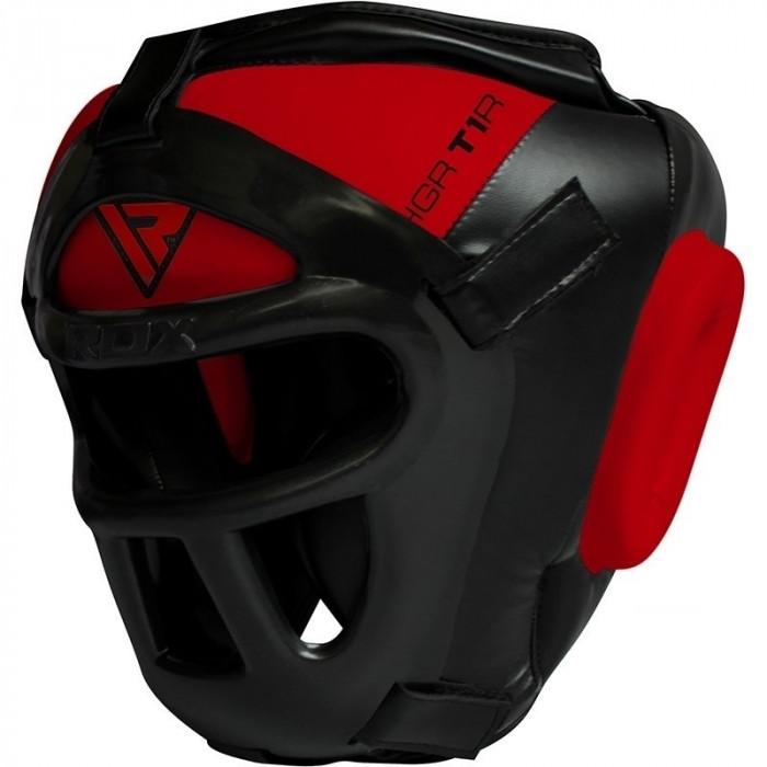 Боксерский шлем тренировочный RDX Guard Red р. M