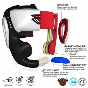 Боксерский шлем с защитой подбородка RDX WB XL