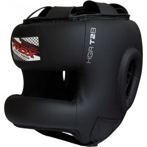 Боксерский шлем тренировочный RDX с бампером р. S