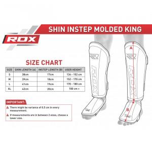 Накладки на ноги, защита голени RDX Molded р. M