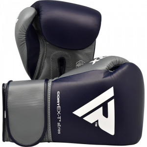 Боксерские перчатки RDX Leather Pro C4 Dark Blue 12 oz