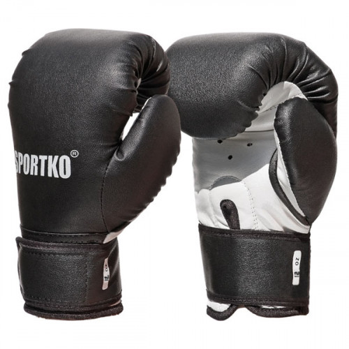 Боксерские перчатки SportKo ПД2 BK 8 oz