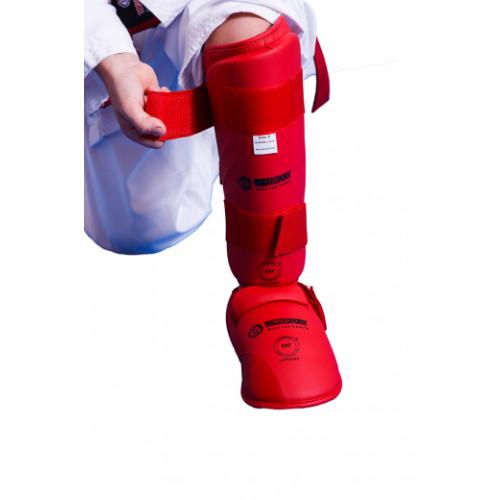 Защита голени и стопы Best Sport EKF (BS-з53) Red р. M