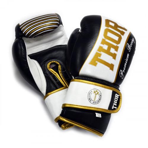Боксерские перчатки Thor Thunder (529/09) BK/WT 10 oz