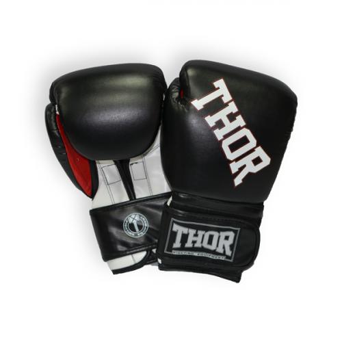 Боксерские перчатки Thor Ring Star (536/02) Black/White/Red 16 oz