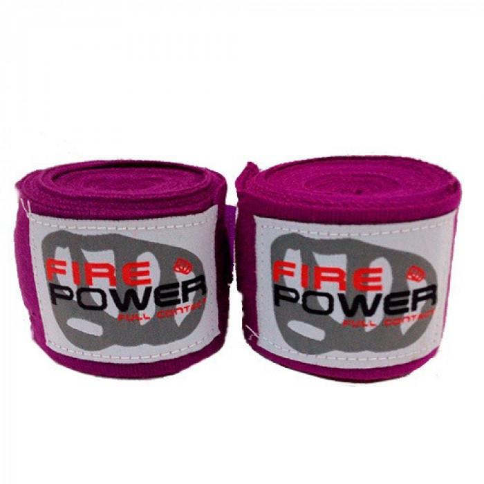 Боксерские бинты FirePower (FPHW1) Violet 4.5 м