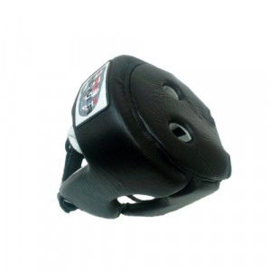 Боксерский шлем FirePower Leather (FPHG2) Black р. M