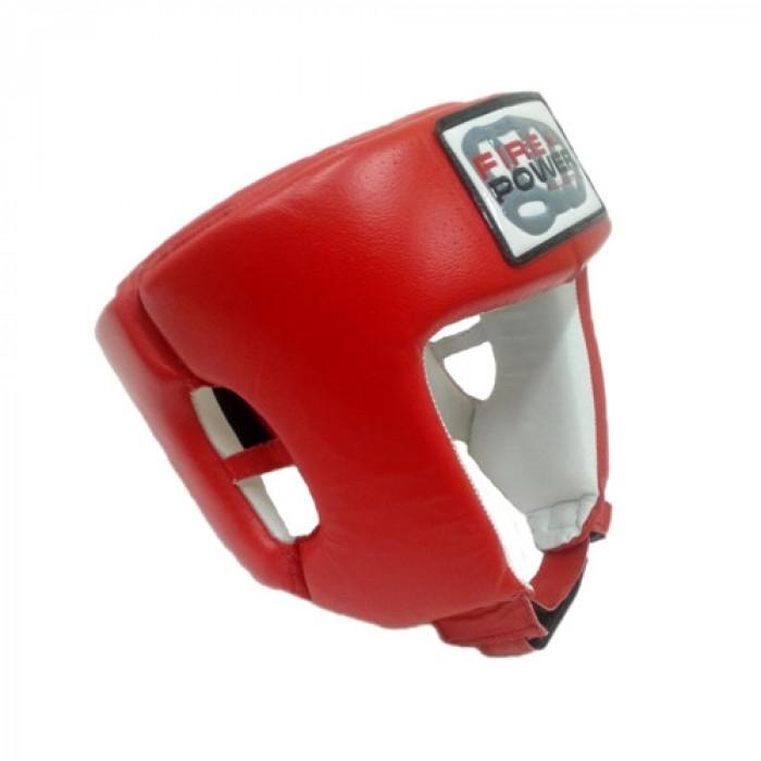 Боксерский шлем FirePower Leather (FPHG2) Red р. XL