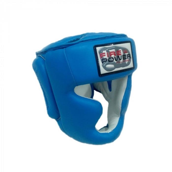 Боксерский шлем FirePower Leather (FPHG3) Blue р. L