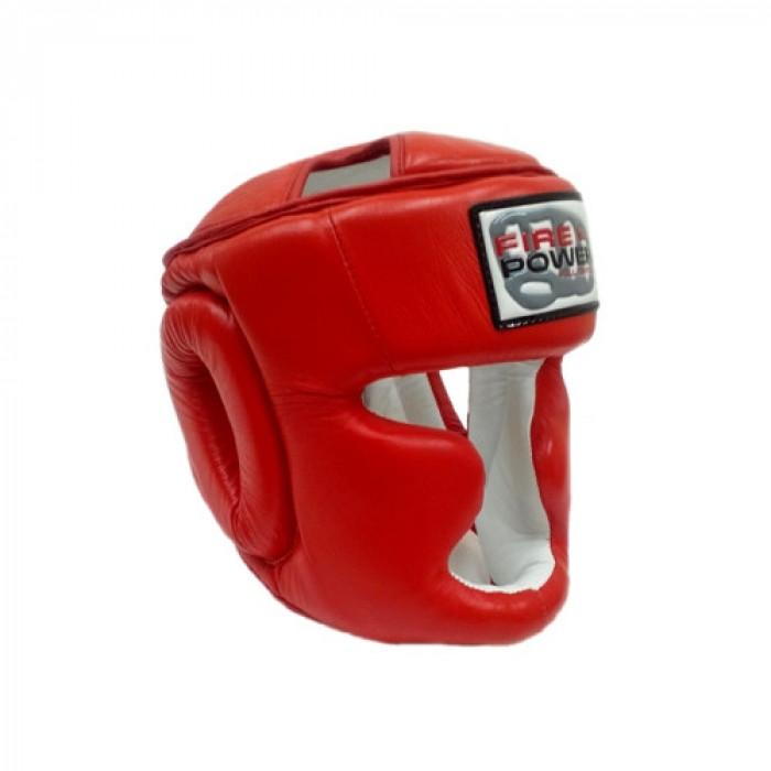 Боксерский шлем FirePower Leather (FPHG3) Red р. XL