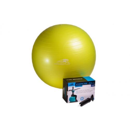Фитбол PowerPlay 65 см (4001) Yellow с насосом