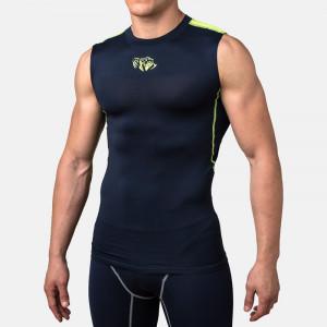 Компрессионная футболка без рукавов Peresvit Air Motion Compression Tank (501006-747) Navy Flu Yellow р. M