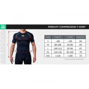 Компрессионная футболка Peresvit Air Motion Compression Short Sleeve T-Shirt (501005-182) Black Grey р. M